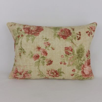 Red Rose Country Floral Sanderson Reminiscence Cushion