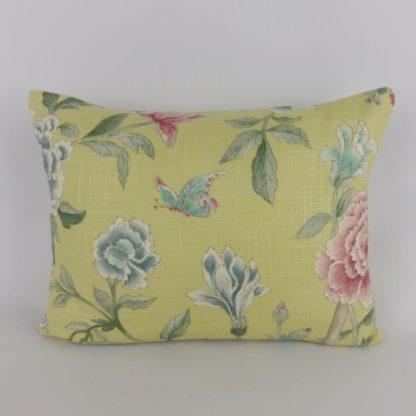 Sanderson Porcelain Garden Butterfly Floral Cushion