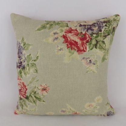Vintage Red Rose Blue Sanderson Weybridge Cushion