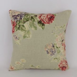 Vintage Red Rose Blue Sanderson Weybridge Cushion