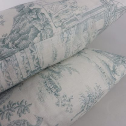 Large Chinese Toile Cushions