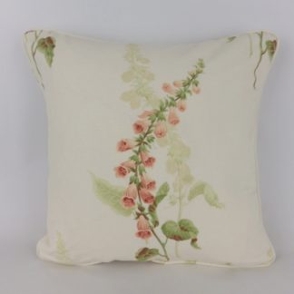 Cottage Garden Sanderson Coral Foxgloves Floral Cushions
