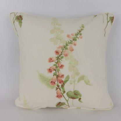 Cottage Garden Sanderson Coral Foxgloves Floral Cushions