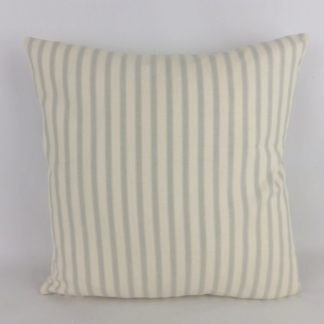 Grey Ticking Stripe Cushions