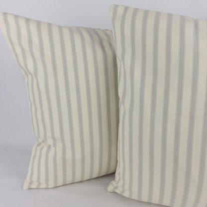 Grey Ticking Stripe Cushions
