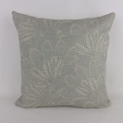 Soft Blue Natural Modern Feather Pattern Cushions