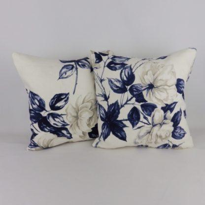 Navy Blue Rose Cushion