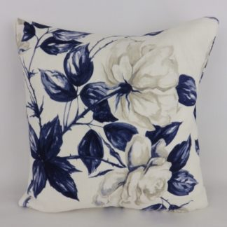 Navy Blue Rose Cushion