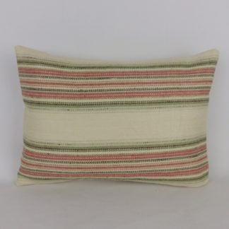Colefax and Fowler Merryn Stripe Fabric Lumbar Cushion
