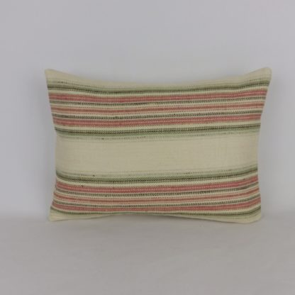 Colefax and Fowler Merryn Stripe Fabric Lumbar Cushion
