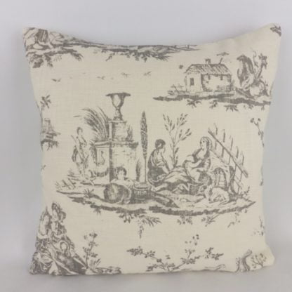 French Grey Toile de Jouy Cushions