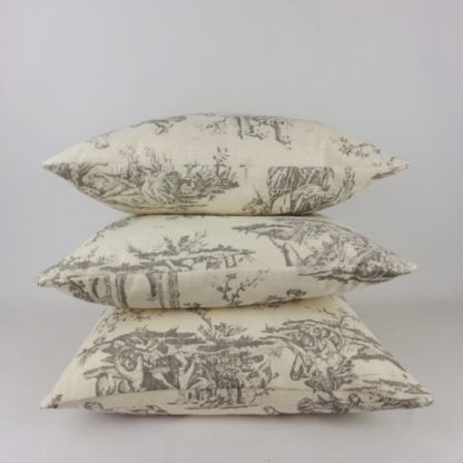 Grey French Toile Cushions