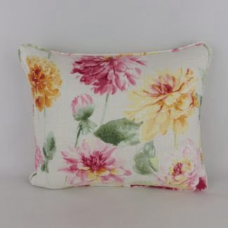 Bright Watercolour Floral Cushion