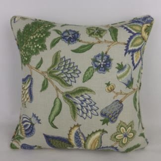 Sanderson Blue Green Newnham Courtney Cushions