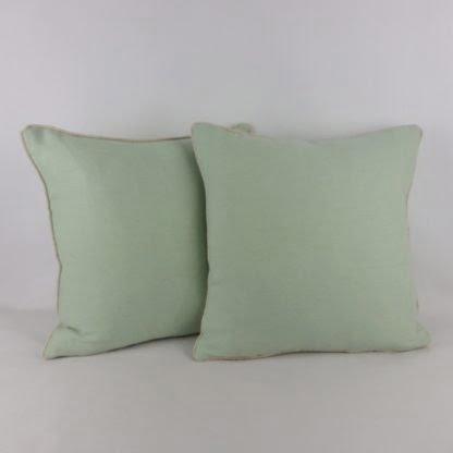 Vintage Green Wool Cushions