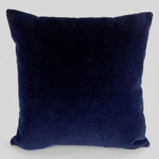 Navy Blue Velvet Cushion
