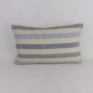 Harbour Blue Natural Linen Stripe Cushions