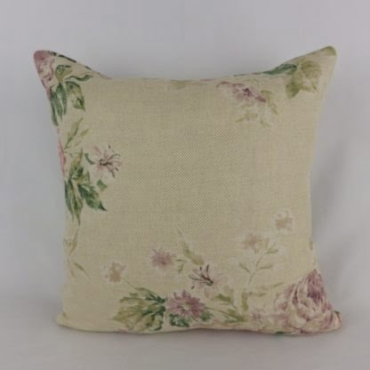 Faded Vintage Floral Linen Cushions