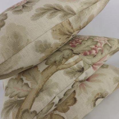 Jacobean Floral Linen Cushions