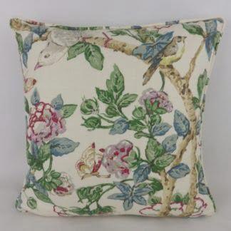 Sanderson Caverley Linen Floral Fabric Cushion