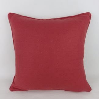 Plain Red Linwood Cushion