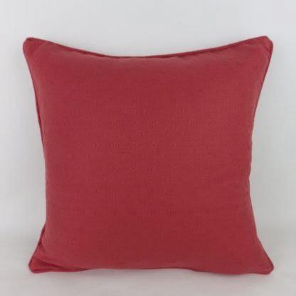 Plain Red Linwood Cushion