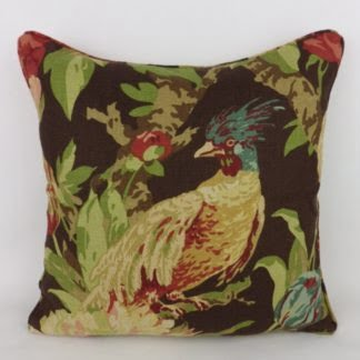 Lush Foliage Floral Bird Cushion