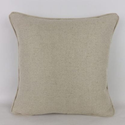 Natural Herringbone Linen Cushions