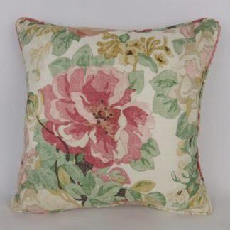 Vintage Floral Midsummer Rose Sanderson Cushion