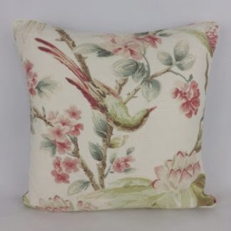 Pink Green Bird Floral Cushions