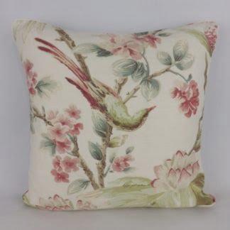 Pink Green Bird Floral Cushions