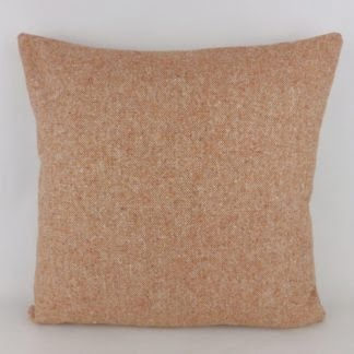 Orange Terracotta Wool Tweed Cushions