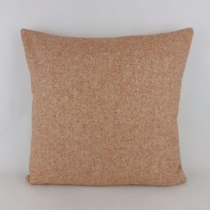 Orange Terracotta Wool Tweed Cushions