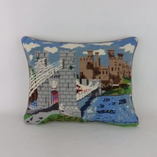 Tower Bridge London Vintage Needlepoint Cushion