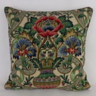 Sanderson Cascas Vintage Floral Vase Cushions