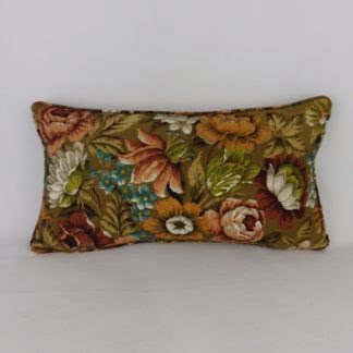 Vintage Sanderson Autumn Floral Cushion