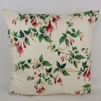 Vintage Red Fuchsia Floral Cushions