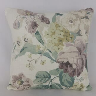Faded Vintage Floral Linen Cushion