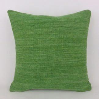 Green 100% Wool Tweed Cushion