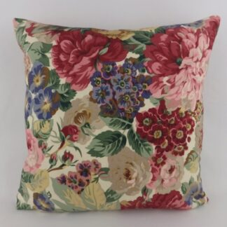 Vintage Sanderson Rose and Peony Floral Cushions