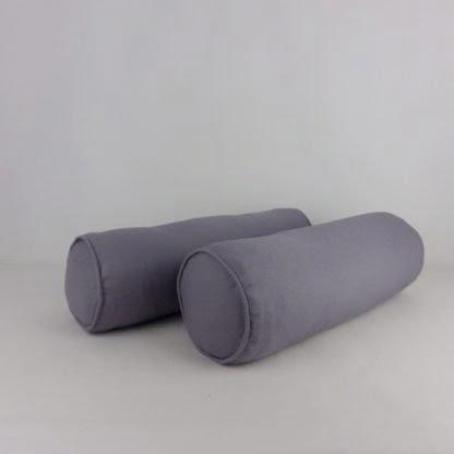 Pair of Grey Bolster Cushions