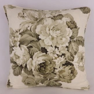 Brown Rose Bouquet Floral Cushion