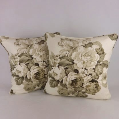 Brown Rose Bouquet Floral Cushion