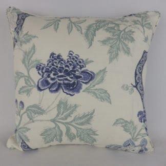 Navy Blue Designer Floral Large Cushions