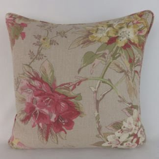 Pink Azalea Edinburgh Weavers Floral Cushions