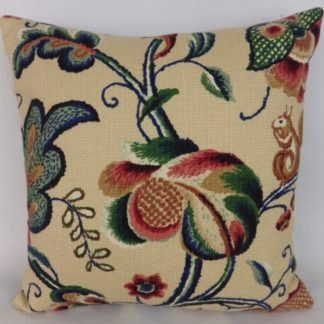 Jacobean Crewel Print Cushion