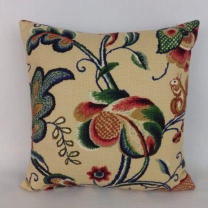 Jacobean Crewel Print Cushion