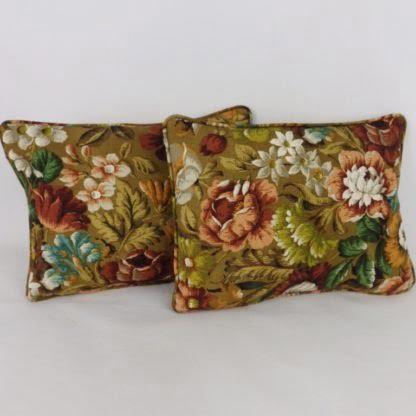 Vintage Sanderson Coverpoint Autumnal Floral Cushion