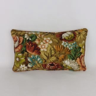 Vintage Sanderson Coverpoint Autumnal Floral Bolster Cushion