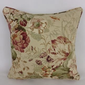 Vintage Red Natural Floral Cushions